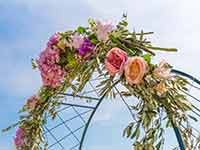 Destination Wedding in Croatia - Flammeum - Gates of Paradise - Flower altar