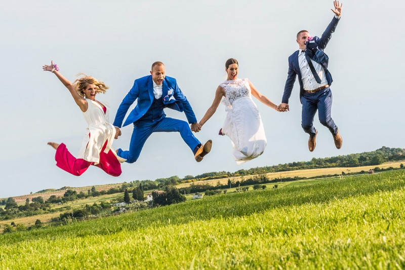 Destination Wedding in Croatia - Flammeum - The newlyweds are happy because of the great wedding organization service