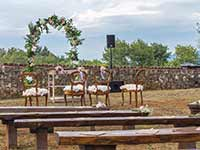 Destination Wedding in Croatia - Flammeum - Old Trails - Bench detail