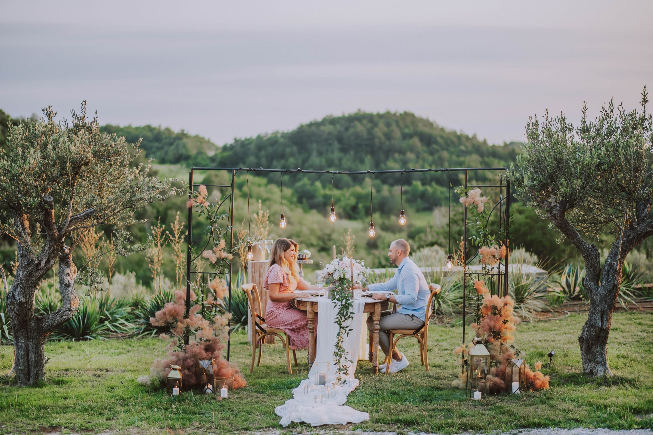 Surprise proposal and engagement in Istria