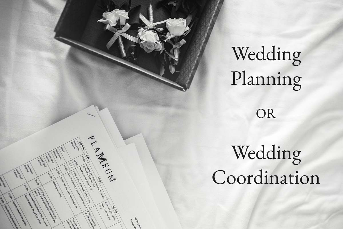 Wedding Planning and Wedding Coordination - What is the Difference?