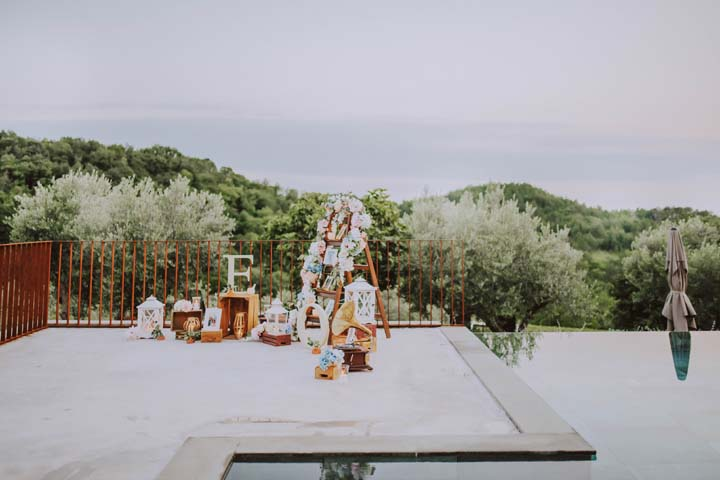 Surprise proposal and engagement in Istria.
